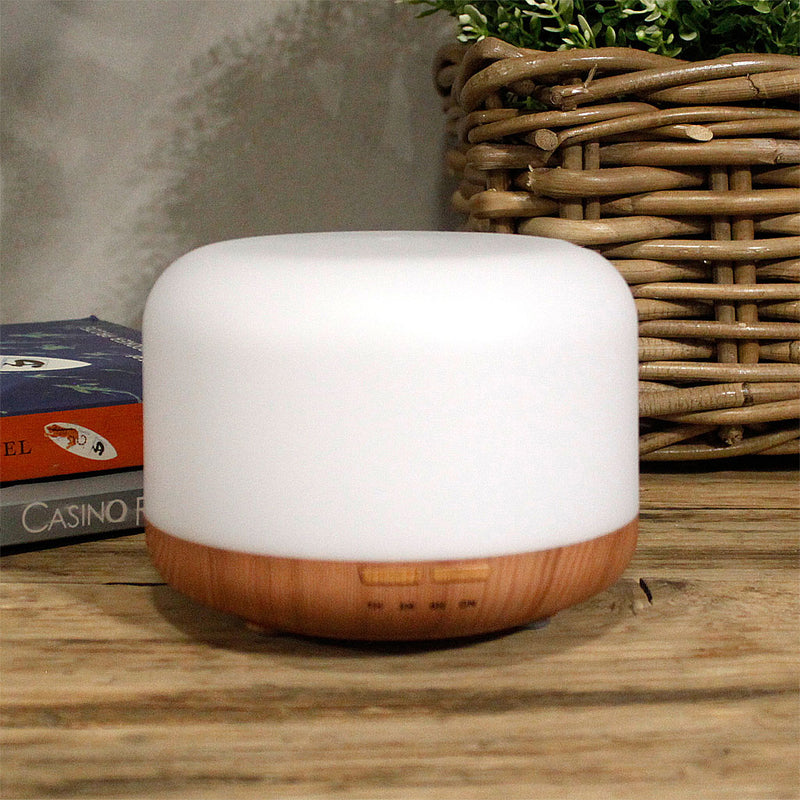 Nourish London Essential Oil Diffuser - White and wood effect for a timeless and elegant look