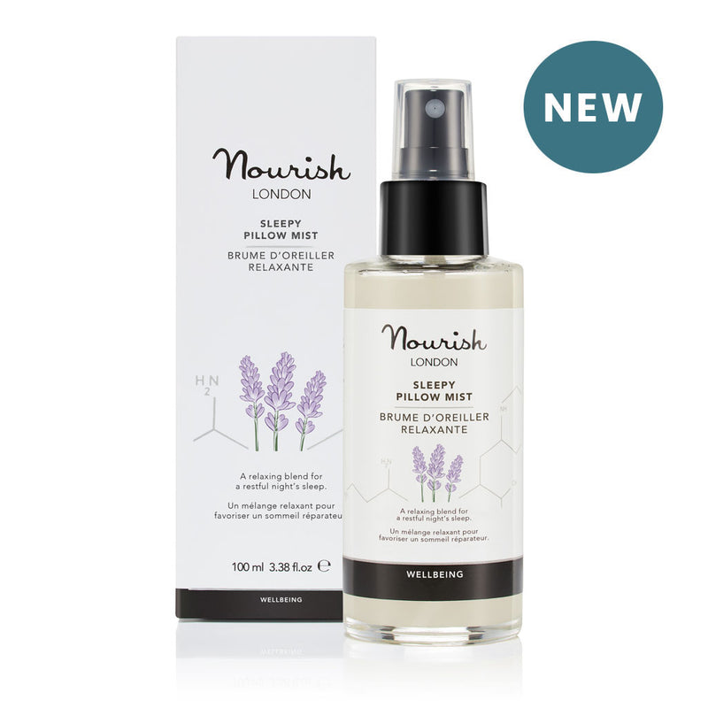 Nourish London NEW Sleepy Pillow Mist - Relaxing Natural Wellbeing Spray for a Restful Night's Sleep