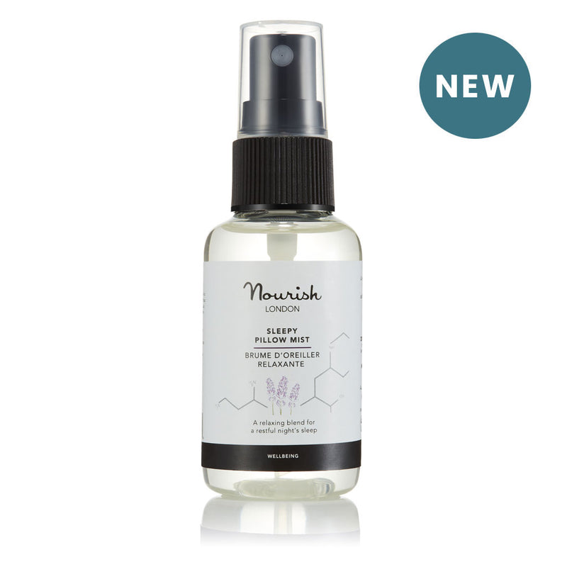 Nourish London NEW Sleepy Pillow Mist 50 ml - Relaxing Natural Wellbeing Spray for a Restful Night's Sleep
