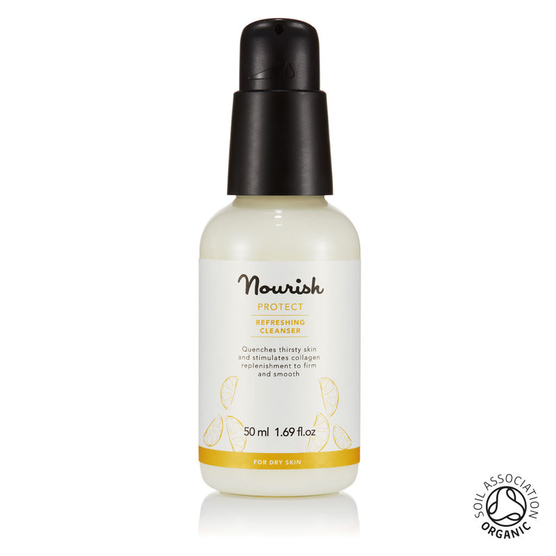 Nourish London Protect Refreshing Cleanser Travel Size: Organic Certified