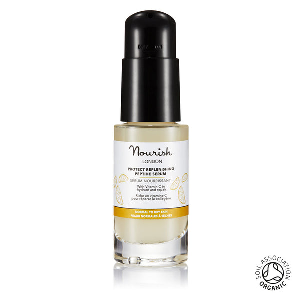 Nourish London Organic Certified Protect Replenishing Peptide Serum for Dry Skin