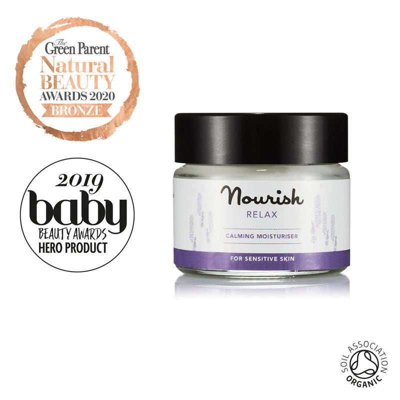 Nourish London Organic Certified Relax Calming Moisturiser Travel Size