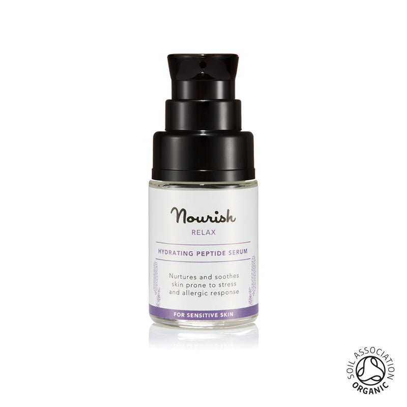 Nourish London Organic Certified Relax Hydrating Peptide Serum Travel Size