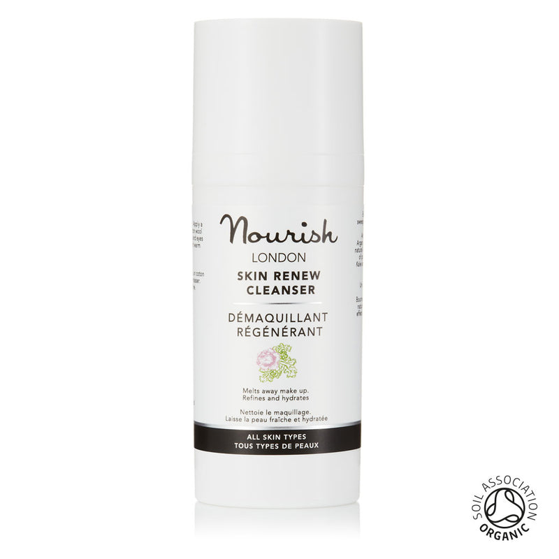 Nourish London Travel Size Skin Renew Cleanser: Certified Soil Association Organic