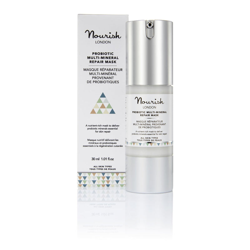 Nourish London Probiotic Multi Mineral Repair Mask Calming Soothing Sensitive Skin with Lavender