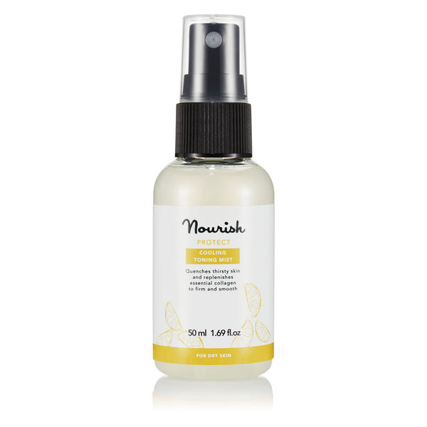 Nourish London Vitamin C Protect Cooling Toning Mist Dry Skin Travel Size 50 ml