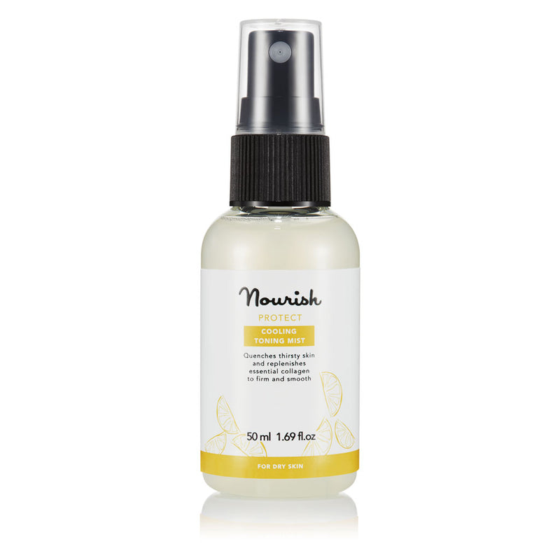 Nourish London Protect Cooling Toning Mist Travel Size: Organic Certified