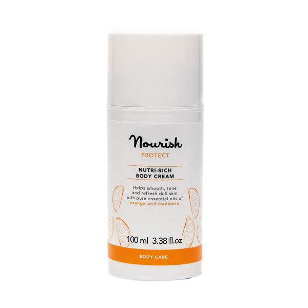 Nourish London Orange Mandarin Protect Nutri Rich Body Cream Dry Skin
