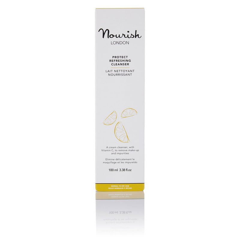 Nourish London Protect Refreshing Cleanser for Dry Skin Box