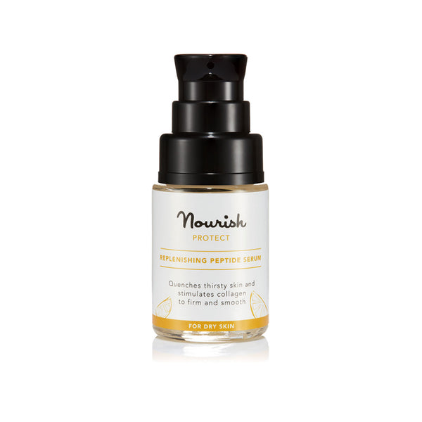 Nourish London Protect Replenishing Peptide Serum for Dry Skin - Travel Size 15 ml