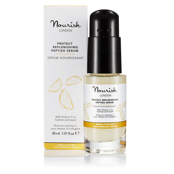 Nourish London Protect Replenishing Peptide Serum for Dry Skin