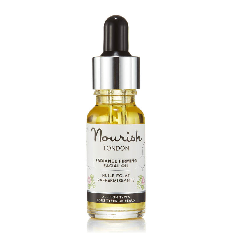 Nourish London Radiance Firming Facial Oil Bottle - Anti-Ageing Acne Prone Skin