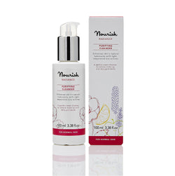 Nourish London Damask Rose Alpine Foxberry Radiance Purifying Cleanser Dull Skin