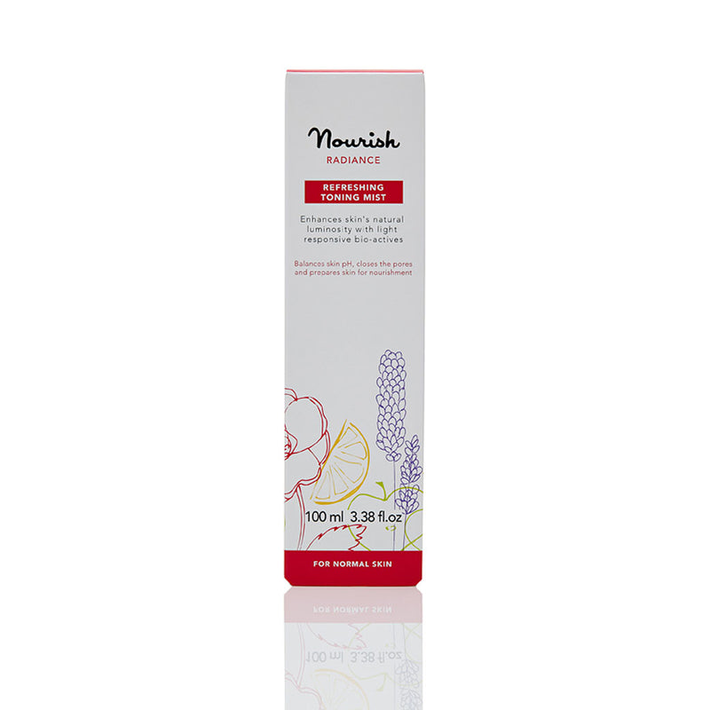 Nourish London Damask Rose Alpine Foxberry Radiance Refreshing Toning Mist Dull Skin