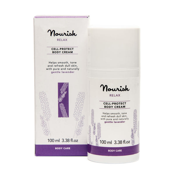 Nourish London Lavender Relax Cell Protect Body Cream Sensitive Skin