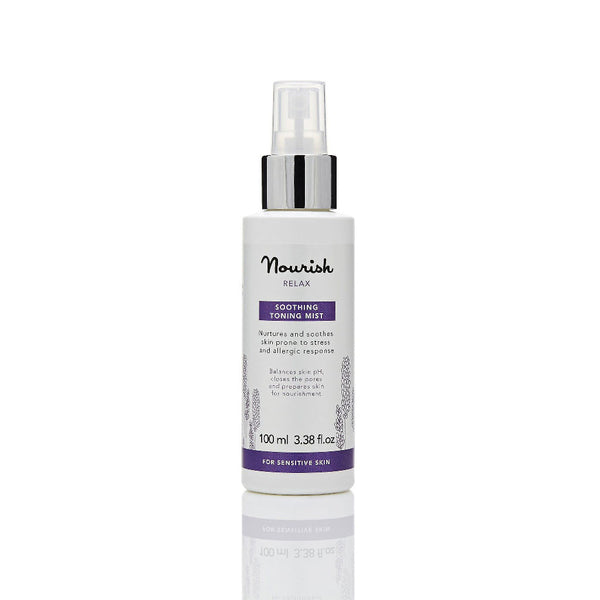 Nourish London Lavender Relax Soothing Toning Mist Sensitive Skin