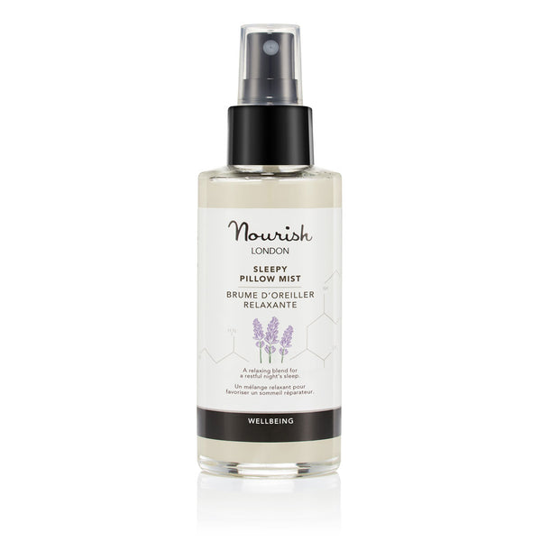 Nourish London Alcohol Free Sleepy Pillow Mist - Relaxing Natural Wellbeing Spray for a Restful Night's Sleep
