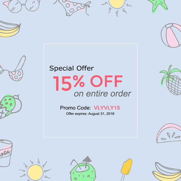 15% Off On Entire Order