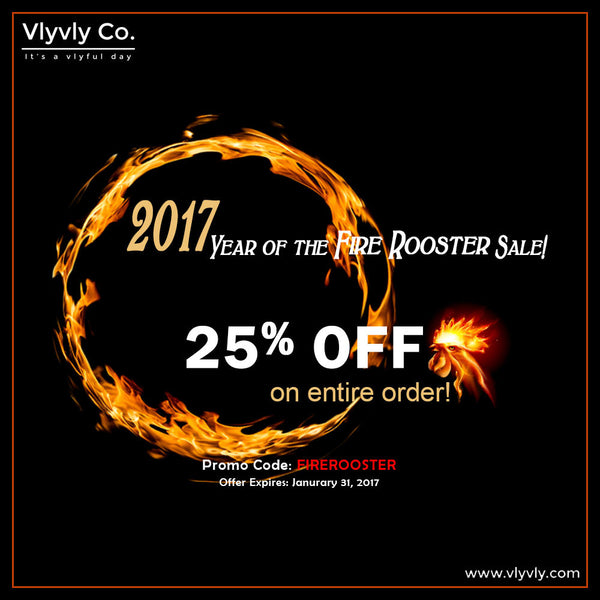 2017 Year of the Fire Rooster Sale!