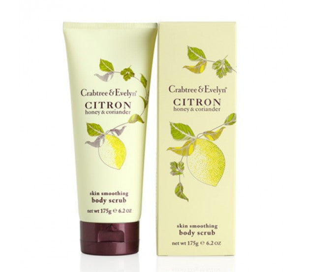 Crabtree & Evelyn Citron Honey & Coriander Skin Smoothing Body Scrub 6.2fl oz/175g