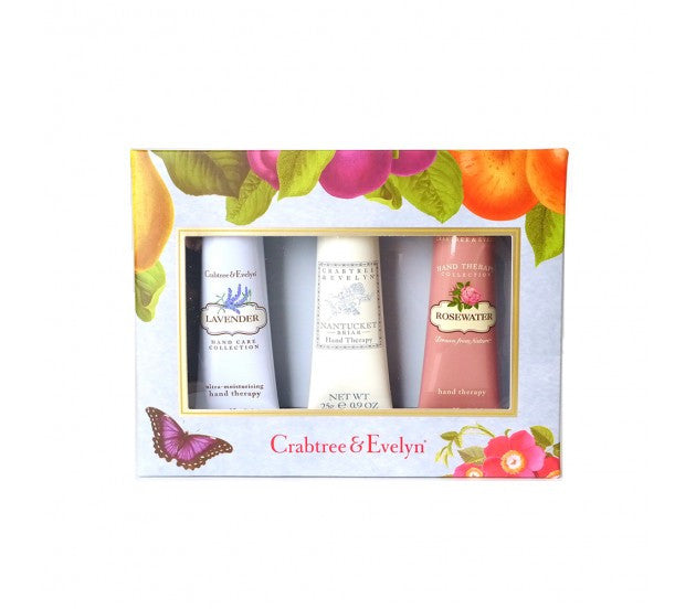 Crabtree & Evelyn Floral Hand Therapy Sampler 3 Pieces Set