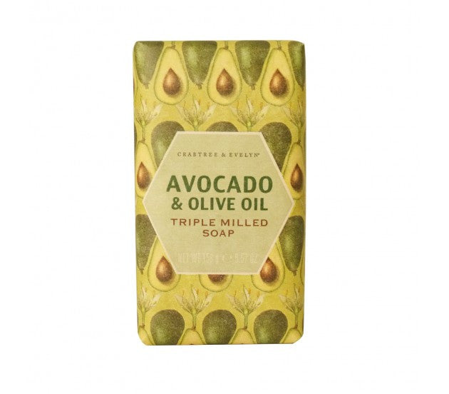 Crabtree & Evelyn Avocado & Olive Oil Triple Milled Soap 5.57fl oz/158g