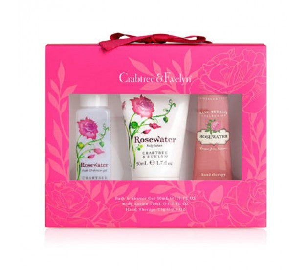 Crabtree & Evelyn Rosewater Little Luxuries 3 Pieces Set