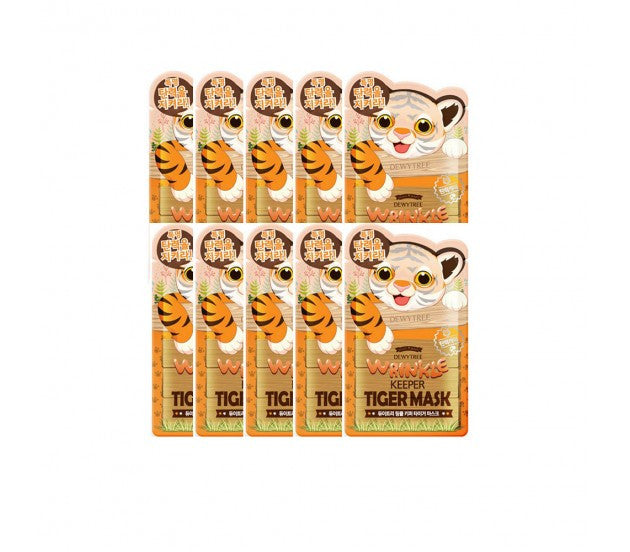 Dewytree Wrinkle Keeper Tiger Mask 25g, 10 Sheets