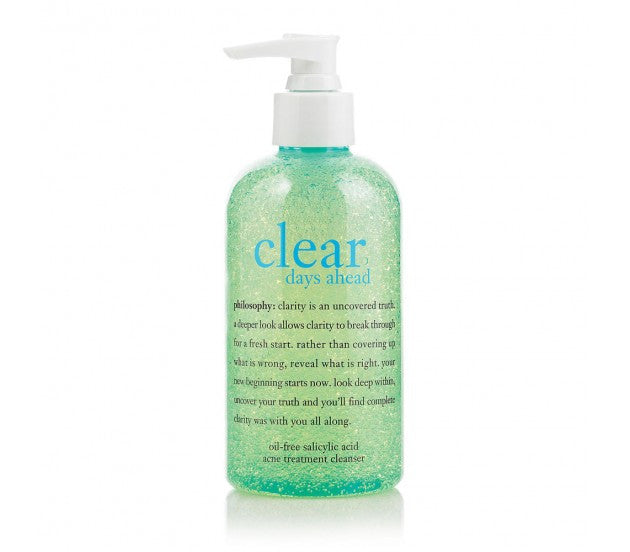 philosophy Clear Days Ahead Oil-Free Salicylic Acid Acne Treatment Cleanser 240ml/8fl oz