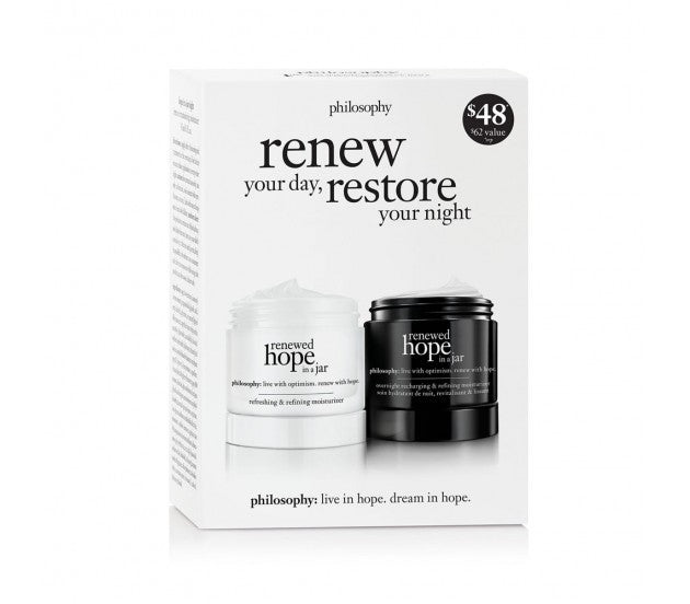 philosophy Renewed Hope In a Jar Renew Your Day Restore Your Night