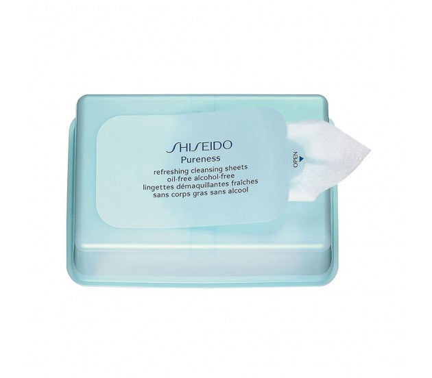 Shiseido Pureness Refreshing Cleansing Sheets, 30 Sheets