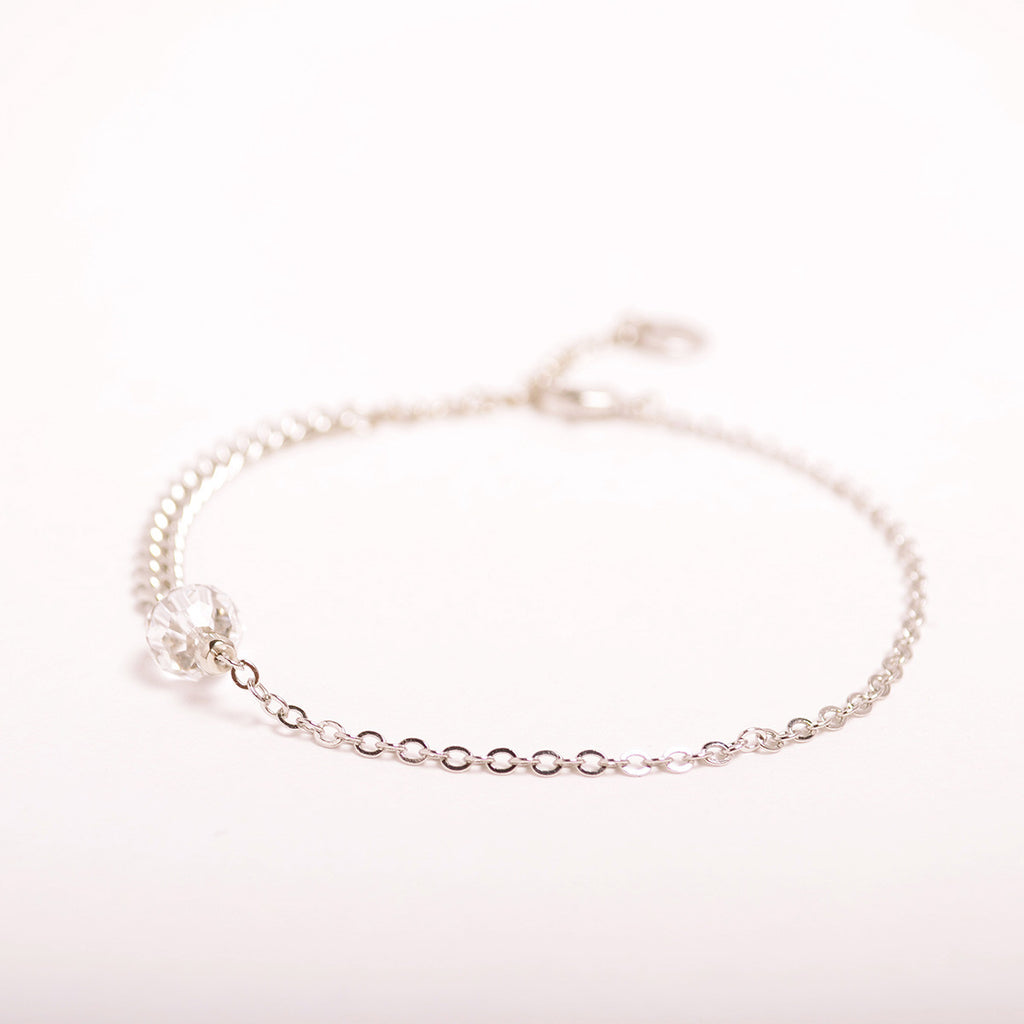 Crystal Ball Chain Anklet