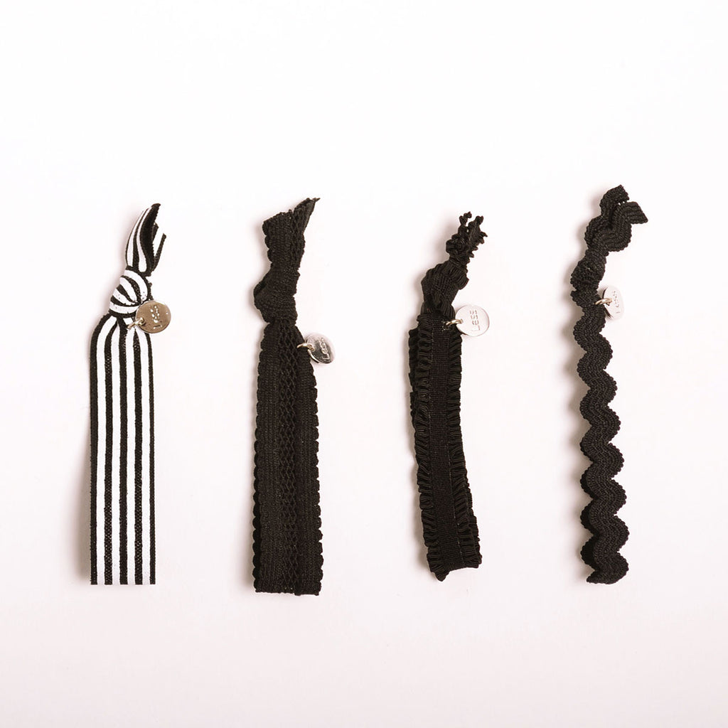 Black Colored Hair-Tie Set