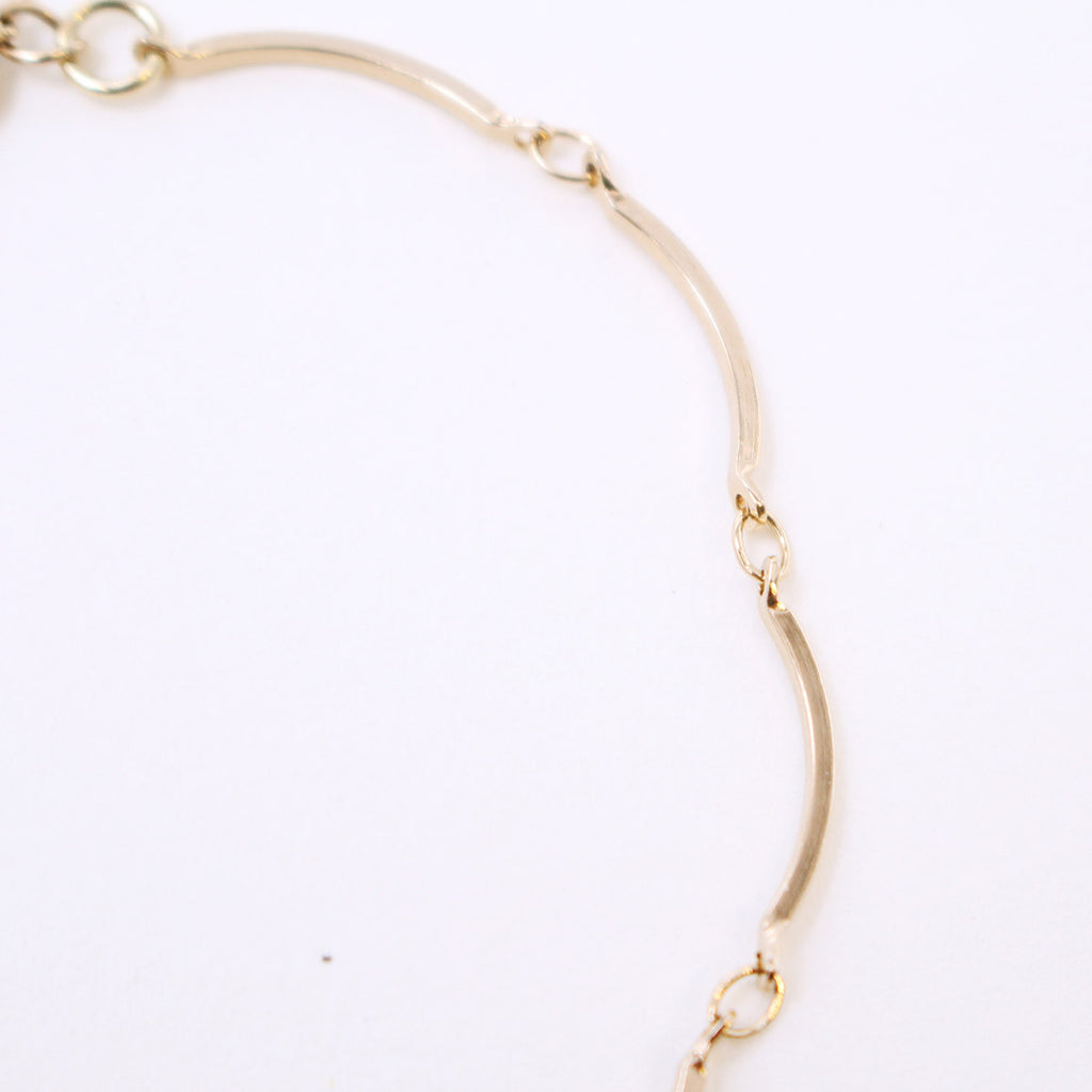 Gold Unbalanced Chain Bracelet