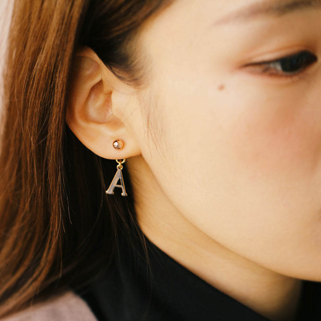 Two Type Initial Earring