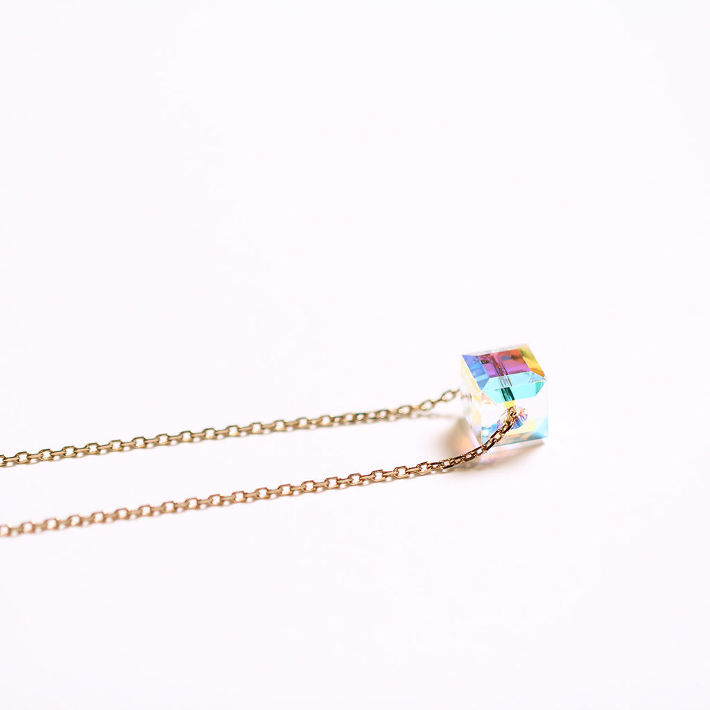 Swarovski Cube Crystal Necklace