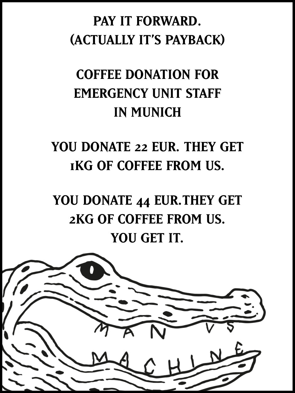 COFFEE DONATION FOR HOSPITALS & ER-UNITS