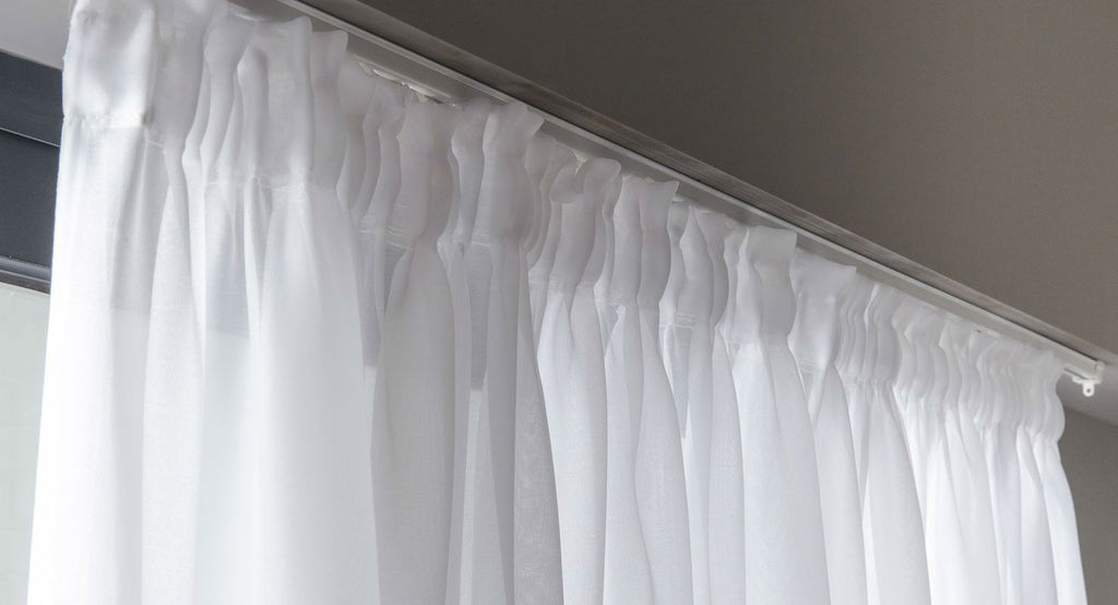 How to Hang Voile Curtain panels with Net Pleat Heading