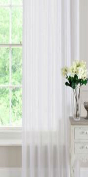 White or Cream Voile Panels