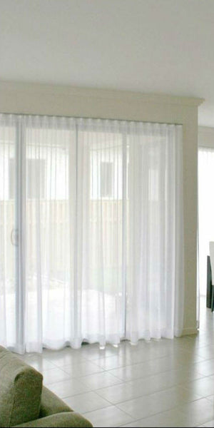 Infinium Batiste Semi -Sheer Voile Panel with WAVE Heading - Pure WHITE - Sheer Ideas