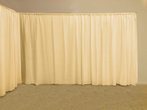 Ready Made Event Backdrop Panel   - Pale Cream - Sheer Ideas