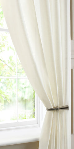 Extra Wide Semi Sheer Batiste Voile Panel - Pale Cream - Sheer Ideas