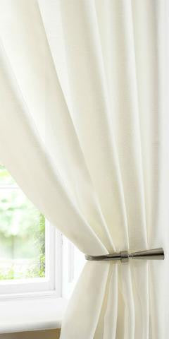 Batiste Semi Sheer Voile Panel - Cream - Sheer Ideas