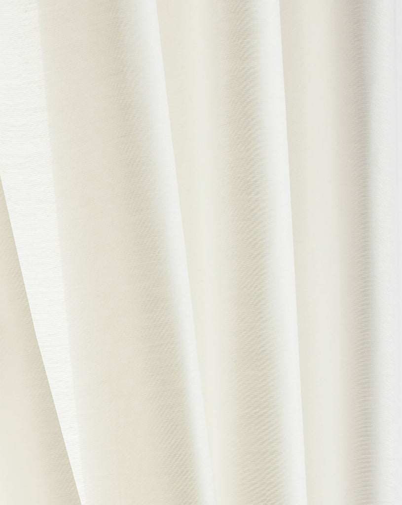 Extra Wide Flame Retardent Opaque Voile Fabric  - Pale Cream - Sheer Ideas