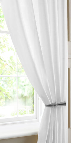 Extra Wide Semi Sheer Batiste Voile Panel - White - Sheer Ideas