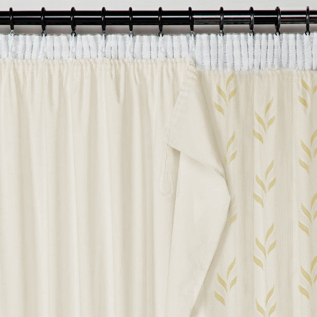 BLACKOUT Lining Panel for Voiles & Sheers - Pale Cream - Sheer Ideas