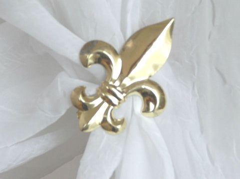 Fleur de Lys Clip - Bright Gold ( pair) - Sheer Ideas