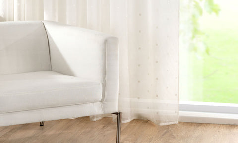 CUSTOM Made RECTANGLES Sheer Voile Panel  - Pure White - Sheer Ideas