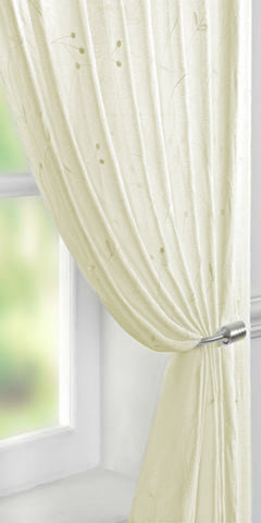 Berry Motif Voile Panel - Pale Cream - Sheer Ideas