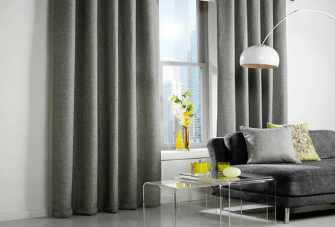 Custom Made LINEN LOOK Curtains - Grey Taupe - Sheer Ideas